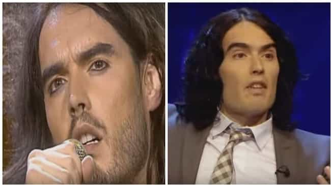 Russell Brand is listed (or ranked) 4 on the list 18 Photos of Makeup-Wearing Male Celebs Without Their Makeup On