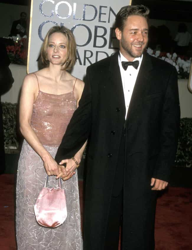 Russell Crowe is listed (or ranked) 3 on the list Jodie Foster Loves and Hookups