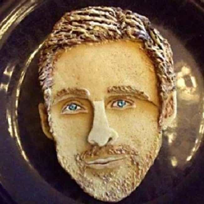 Ryan Gosling is listed (or ranked) 3 on the list 17 Celebrity Face Cakes That Don't Look Quite Right