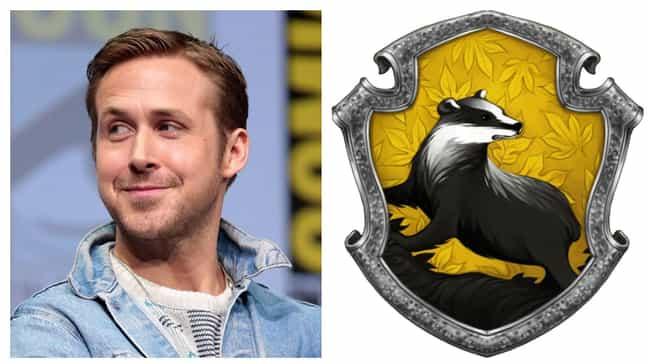 Ryan Gosling is listed (or ranked) 4 on the list Which Hogwarts Houses Would Celebrities Be Sorted Into?