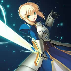 Saber is listed (or ranked) 4 on the list The Best Female Anime Characters