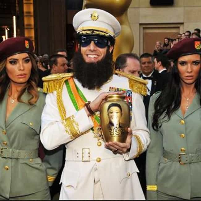 Sacha Baron Cohen is listed (or ranked) 4 on the list 2012 Oscars Red Carpet Worst Dressed