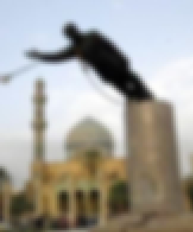 Saddam Hussein is listed (or ranked) 2 on the list 11 Monuments That Were Removed in Disgrace