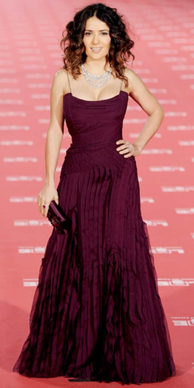Salma Hayek is listed (or ranked) 3 on the list Celebrities in Gucci Dresses