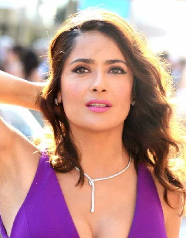 Salma Hayek is listed (or ranked) 2 on the list The Most Beautiful Famous Brown-Eyed Girls