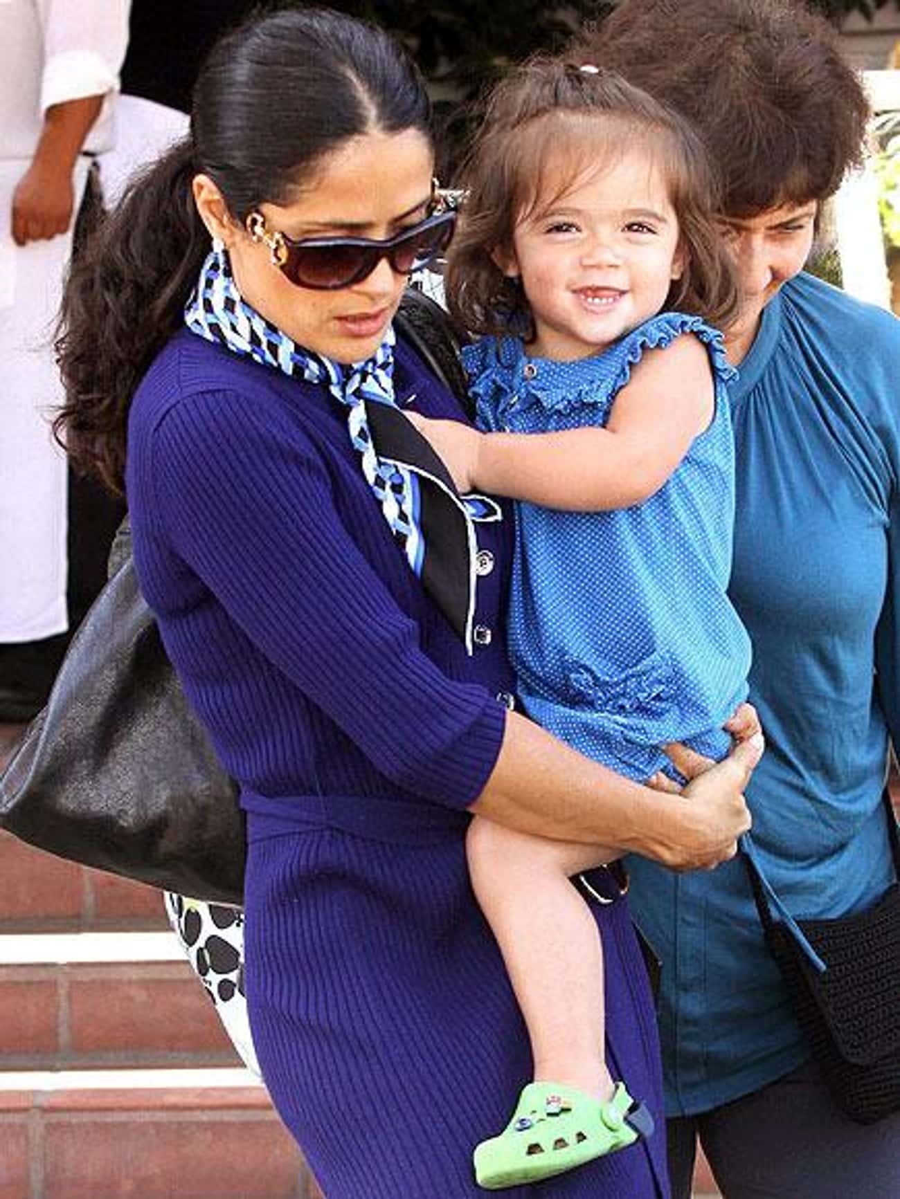 Salma Hayek is listed (or ranked) 4 on the list 42 Celebrity Women Who Gave Birth After 40