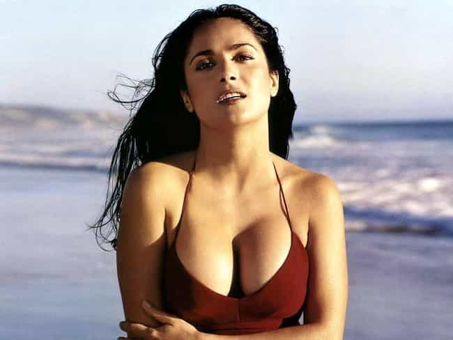 Salma Hayek is listed (or ranked) 1 on the list The Finest Breasts in Entertainment