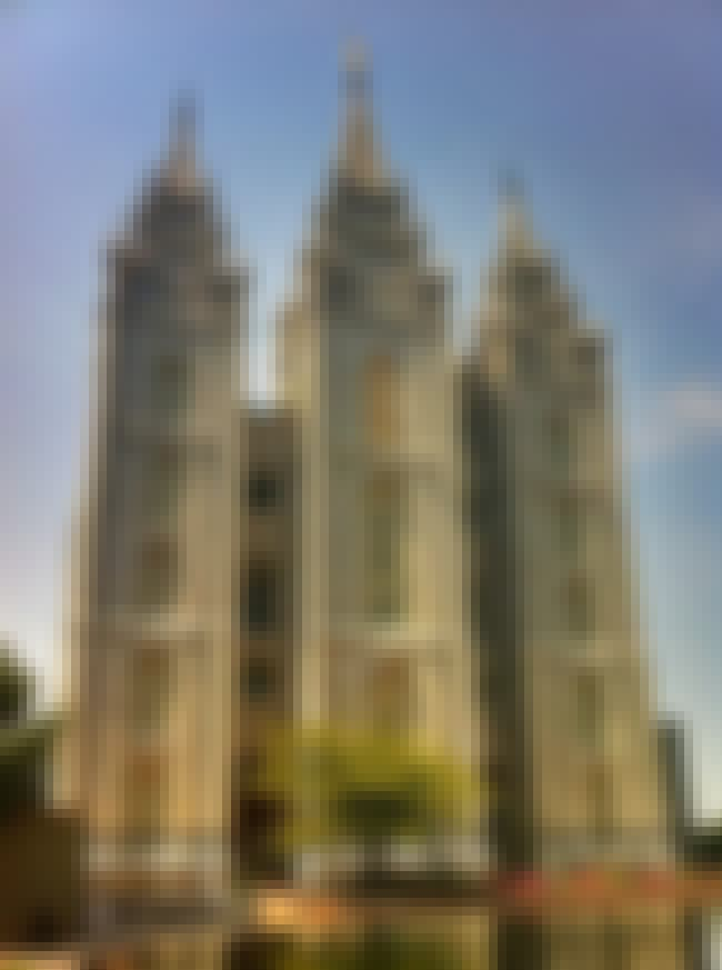 Salt Lake Temple is listed (or ranked) 2 on the list The Most Beautiful Mormon Temples