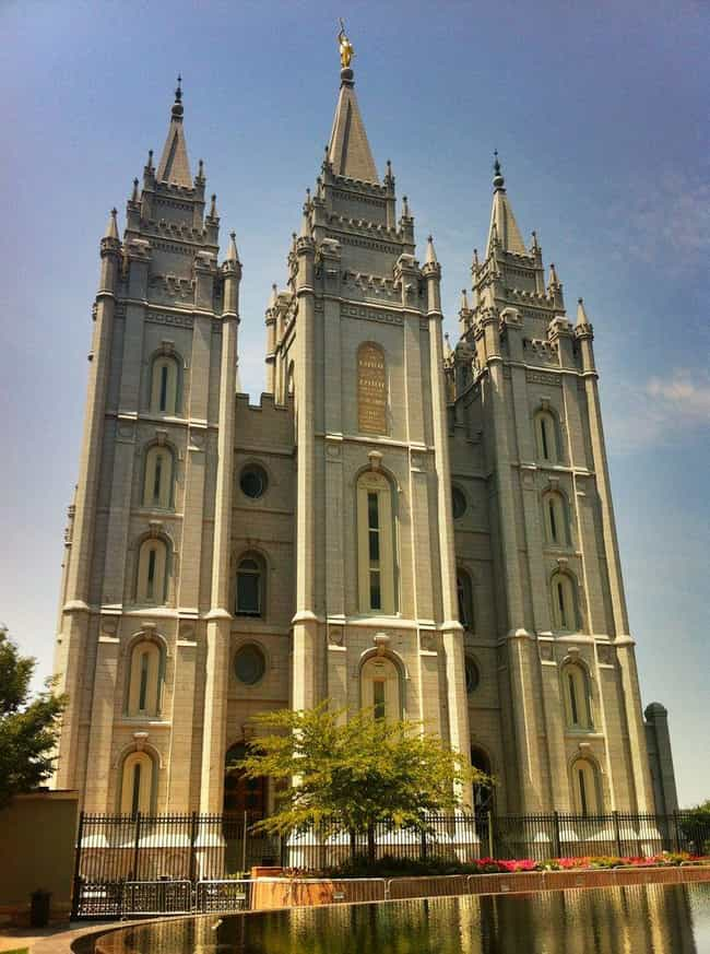 Salt Lake Temple is listed (or ranked) 1 on the list The Most Beautiful Mormon Temples