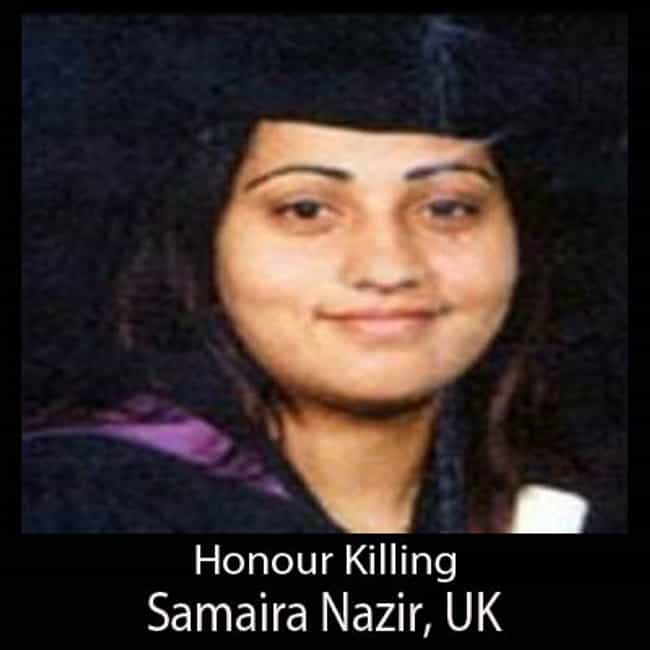 Samaira Nazir is listed (or ranked) 4 on the list Famous People Who Died of Honor Killing
