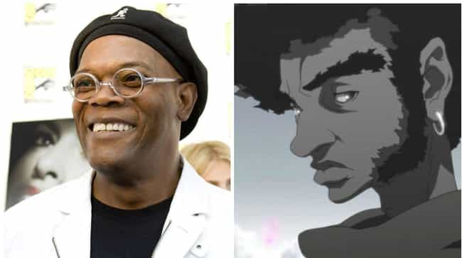 Samuel L. Jackson is listed (or ranked) 3 on the list 18 Times American Celebrities Lent Their Voice To Anime