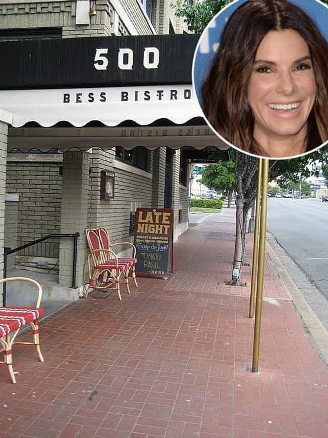 Sandra Bullock is listed (or ranked) 4 on the list 40 Celebrities Who Own Restaurants