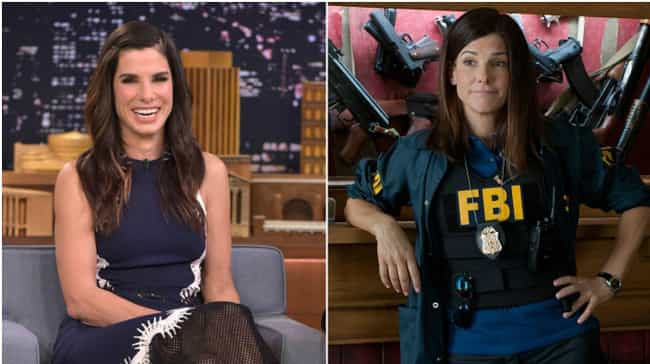Sandra Bullock is listed (or ranked) 3 on the list 20 Actresses Who Pretty Much Play Themselves In All Of Their Films