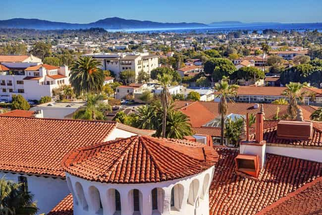 Santa Barbara is listed (or ranked) 4 on the list The Most Beautiful Cities in the US