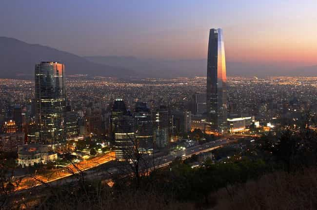 Santiago is listed (or ranked) 6 on the list The Most Beautiful Cities in South America