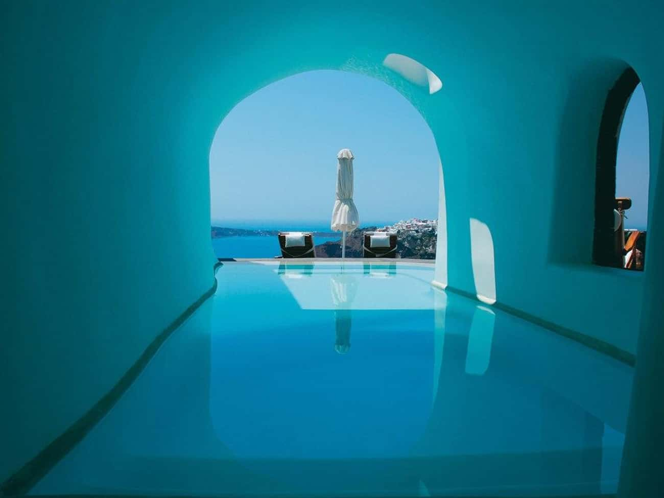 Perivolas Hotel Cave Pool - Sa is listed (or ranked) 4 on the list The 35 Coolest Pools in the World