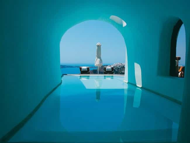 Santorini is listed (or ranked) 5 on the list The 35 Coolest Pools in the World