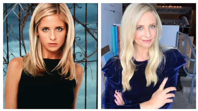 Sarah Michelle Gellar is listed (or ranked) 1 on the list Here's What The Cast Of Buffy The Vampire Slayer Looks Like Now