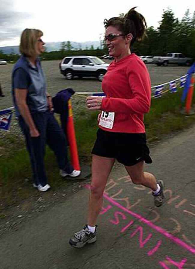 Sarah Palin is listed (or ranked) 4 on the list Celebrities Who Have Run Marathons