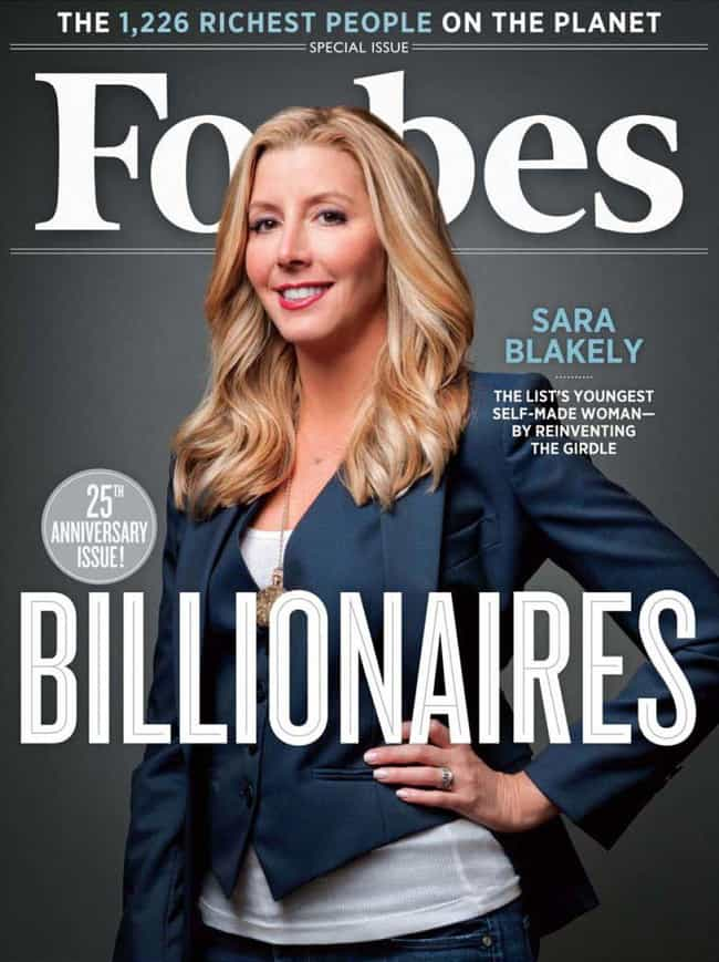 Sara Blakely is listed (or ranked) 4 on the list The Best Forbes Covers