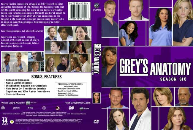 Grey's Anatomy - Season 6 is listed (or ranked) 1 on the list The Best Seasons of Grey's Anatomy