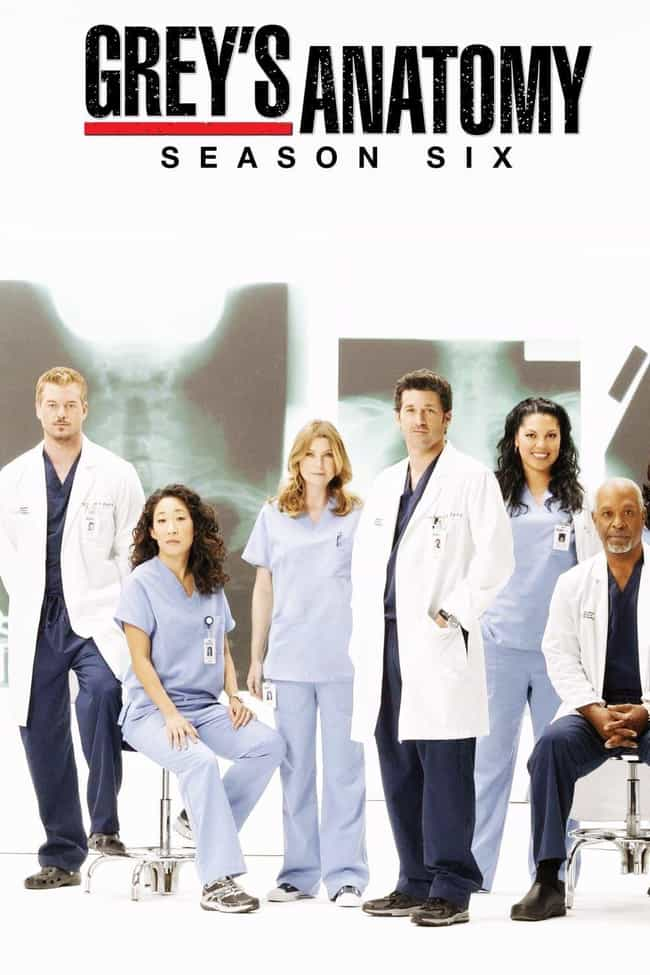 Grey's Anatomy - Season 6 is listed (or ranked) 3 on the list The Best Seasons of Grey's Anatomy